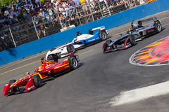 Formula E. Cars hairpin stock photography