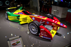 Formula E Geneva 2016. Geneva, 86th Salon de lAuto 2016 ABT presents officially at the autoexpo the single seater that FIA is promoting to start in fall 2016 stock photography