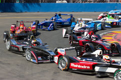 Formula E. Hairpin royalty free stock photography