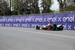 Abb Formula-E Championship in Rome. Formula E returns to the 2.84km Circuito Cittadino dell'EUR for the second time in the series history. The Circuito royalty free stock photography