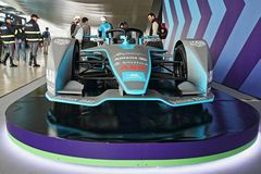 Abb Formula-E Championship in Rome. Formula E returns to the 2.84km Circuito Cittadino dell'EUR for the second time in the series history. The Circuito royalty free stock photos