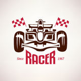 Formula 1 emblem, race bolide Royalty Free Stock Photos