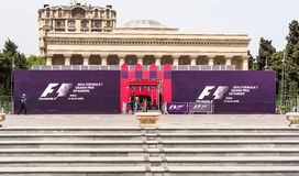Formula 1, Grand Prix of Europe, Baku 2016 Royalty Free Stock Image