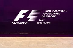 Formula 1, Grand Prix of Europe, Baku 2016 banner Stock Images