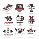 Formula 1 icon set, sport icons and sticker - 2 Royalty Free Stock Image