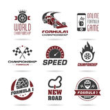 Formula 1 icon set, sport icons and sticker - 3 Royalty Free Stock Image