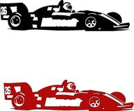 Formula. Illustrated sports formula with driver and administration of Red stock illustration