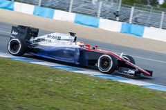 Formula 1, 2015: Jenson Button, McLaren-Honda Stock Photo