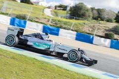 Formula 1, 2015: Lewis Hamilton, Mercedes Stock Images