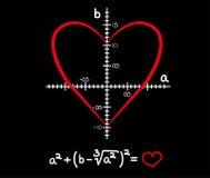 Formula of love. Vector Valentines illustration Stock Photo