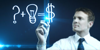 Formula for making money Royalty Free Stock Photo