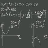 Formula matematica su un fondo scuro Fotografie Stock