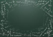 Formula math. Illustration of blank chalkboard with math formula Stock Photos