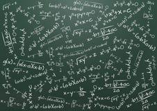 Formula math. Illustration of chalkboard with math formula Royalty Free Stock Photography
