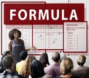 Formula Mathematics Calculation Chart Concept Stock Image