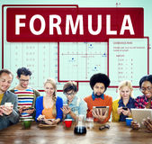Formula Mathematics Calculation Chart Concept Stock Photos