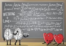 Formula Of Love And Wedding. Stock Photography