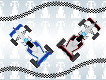 Formula one. Illustration of formula one racing cars royalty free illustration