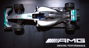 Formula One AMG Mercedes Championship Car Royalty Free Stock Image