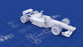 Formula One Blueprint vector illustration