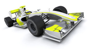 Formula one car. 3d render of a formula one car royalty free illustration