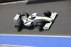 Formula one car in action. Formula one sport car is in action Stock Photos