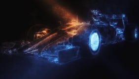 Formula One Car - Blue Smoke. Illustration vector illustration