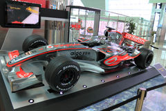 Formula one car display in dubai Royalty Free Stock Photo