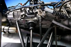 Formula one car engine detail Royalty Free Stock Photo