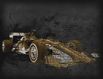 Formula one car - word cloud. 3D illustration vector illustration