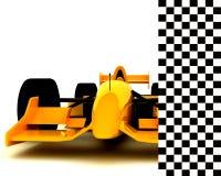Formula One Car005. A Formula One Car on white backdrop005 Royalty Free Stock Photos