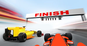 Formula one cars Royalty Free Stock Images