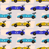 Formula one cars seamless background design Stock Photos