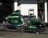 Formula One Caterham paddock  - F1 Photos Royalty Free Stock Photography