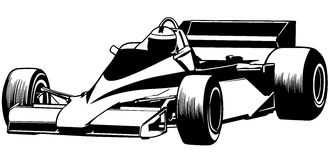 Formula One. Driver And Racing Car Illustration, Vector Stock Images