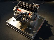 Formula One Engine. At the Ferrari Stand in Milano Autoclassica a Formula One Engine was exposed among some rare and remarkable classic cars buolt by the Stock Photos