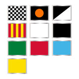 Formula one flags. Illustration of all the formula one flags isolated on white.EPS file available Royalty Free Stock Images