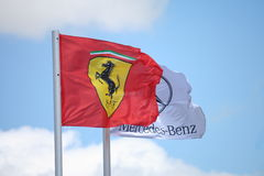 Formula one flags Royalty Free Stock Photo