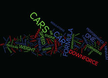 Formula One Grand Prix Cars Text Background  Word Cloud Concept Stock Image