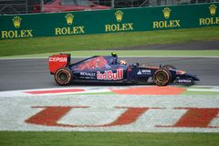2014 Formula one Monza Toro Rosso - Daniil Kvyat Royalty Free Stock Photography
