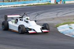 Formula one race car. Formula three  race car on a speed track Stock Photos