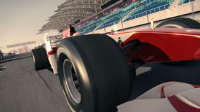 Formula One Race car . Very fast driving.  animation