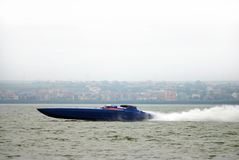 Formula one racing boat. Shot at the F1 competition September 2007 in Constanta,Romania Royalty Free Stock Image