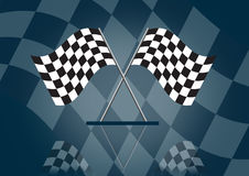 Formula one racing flag. Illustration, speed concept Royalty Free Stock Photo