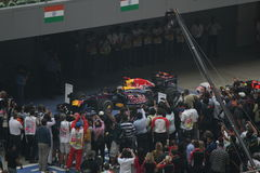 Formula One - Red Bull Racing. Red Bull Racing wins a Formula One Leg Royalty Free Stock Photo