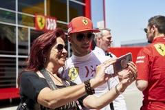 Formula One in season test stock image