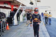 Formula One Spain Grand Prix. 10th May 2019, Circuit de Barcelona-Catalunya, Barcelona, Spain; Formula One Grand Prix of Spain, Friday free practice; Pierre royalty free stock photo
