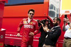 Formula One Spain Grand Prix. 11th May 2019, Circuit de Barcelona-Catalunya, Barcelona, Spain; Formula One Grand Prix of Spain, qualification; Charles Leclerc of stock images