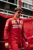 Formula One Spain Grand Prix. 11th May 2019, Circuit de Barcelona-Catalunya, Barcelona, Spain; Formula One Grand Prix of Spain, qualification; Charles Leclerc of stock photography