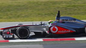 Formula One Teams Test Days At Catalunya Circuit Royalty Free Stock Photography